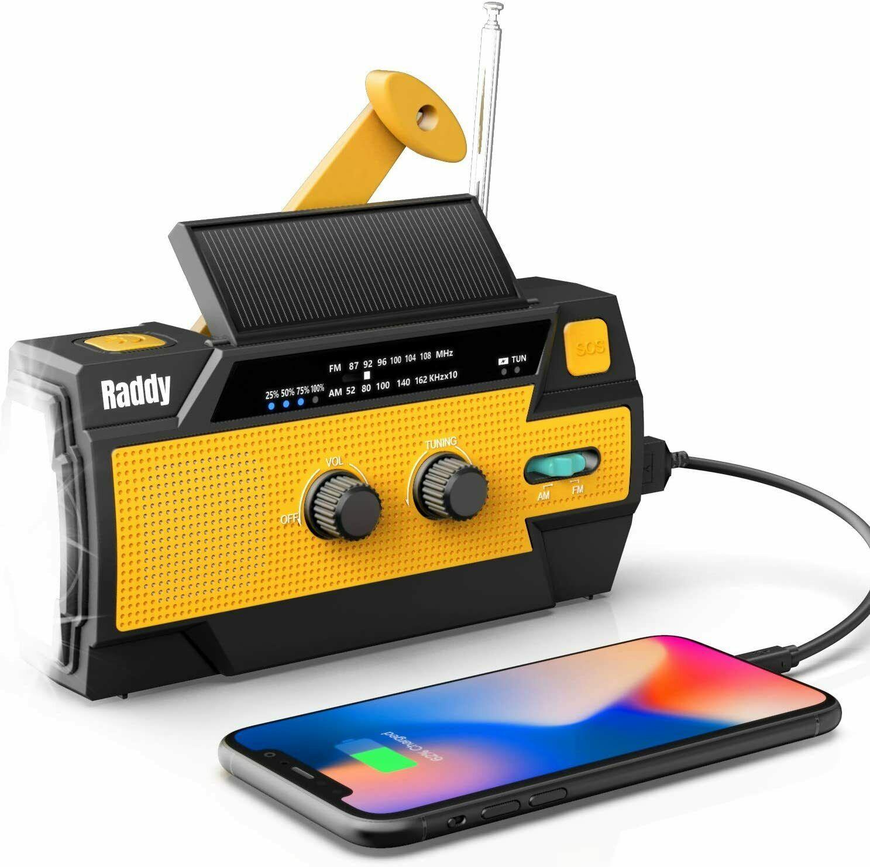 Raddy Kurbelradio SW3 mit Solarpanel und USB Handyladefunktion für 25,79€