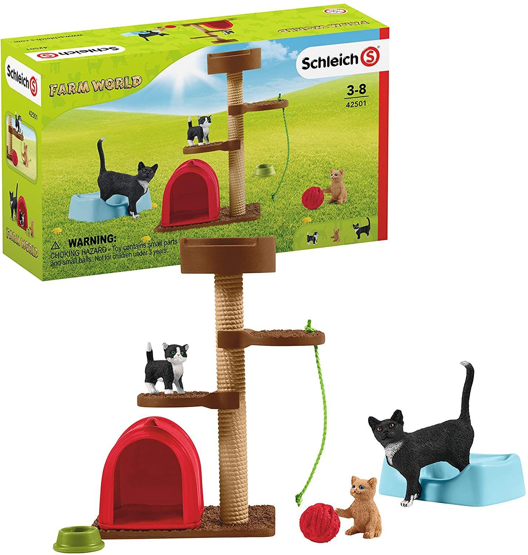 Schleich 42501 Farm World Spielset - Spielspaß für niedliche Katzen, Spielzeug ab 3 Jahren [Amazon Marketplace]