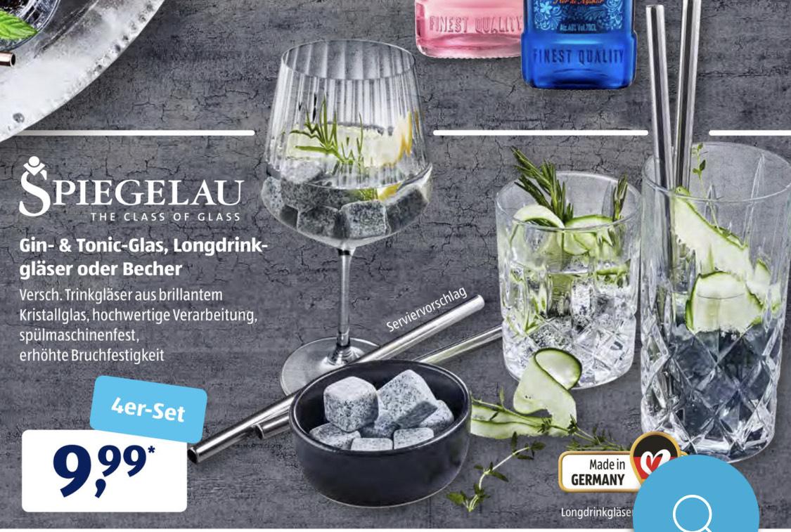 Spiegelau Gin-Tonic Glas / Longdrinkgläser- oder Becher je 4er Set für 9,99€ (ab 4.6.)