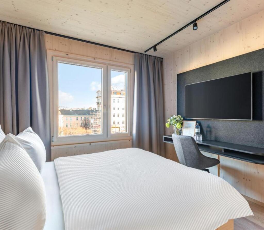 Wien: 4*Wood Rooms & Apartments - Studio für 2 Personen - 2020 eröffnet / Mai bis Juli