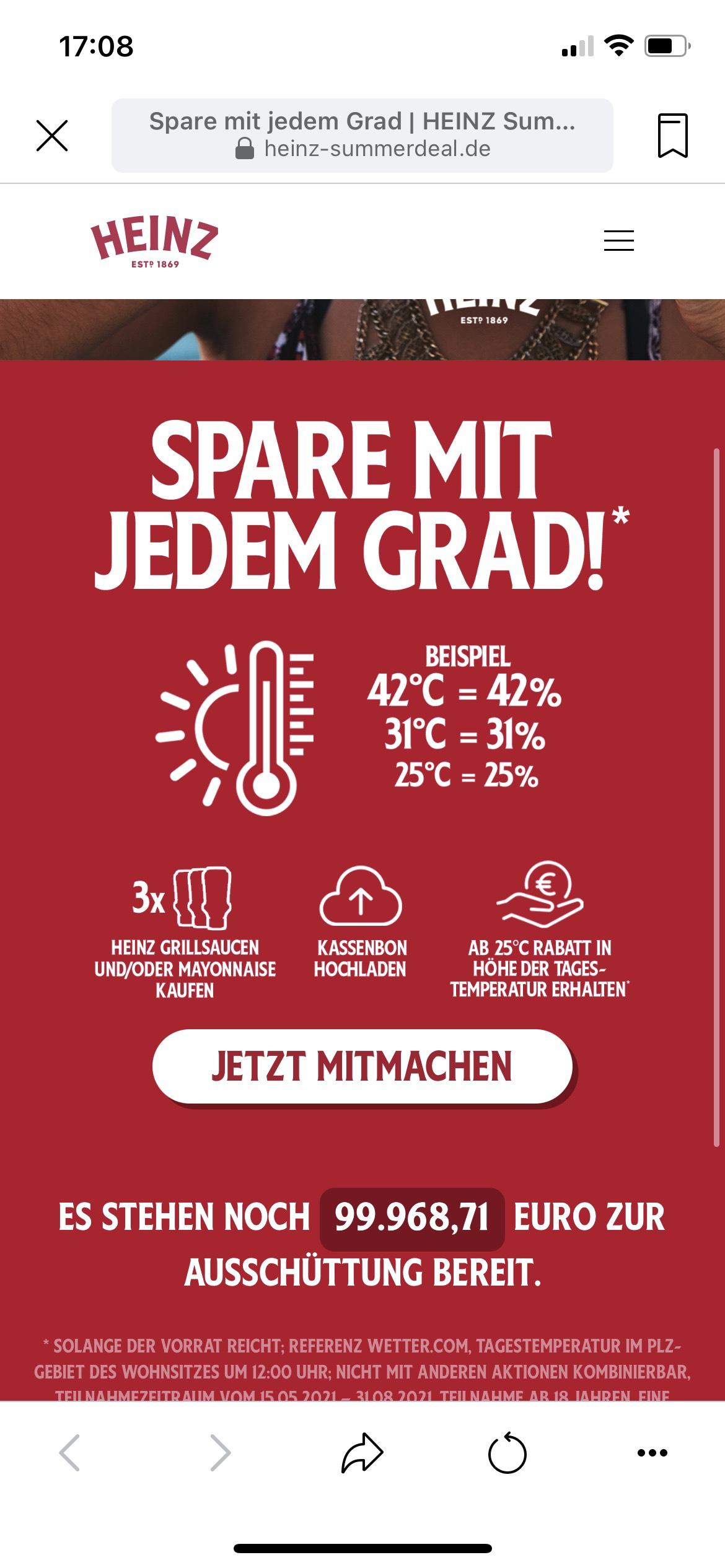 Heinz - Sparen mit jedem Grad