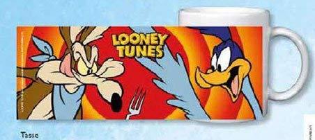 Amazon Prime: Looney Tunes Tasse mit umlaufenden Motivdruck , Porzellan, Spülmaschinen geeigneter Aufdruck