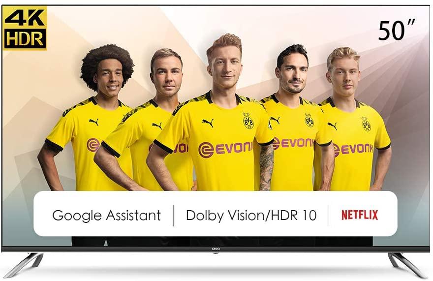 ChiQ U50H7A 50 Zoll Fernseher   UHD 4K   Smart   Android 9   Bluetooth   95% Vergriffen letzte Chance