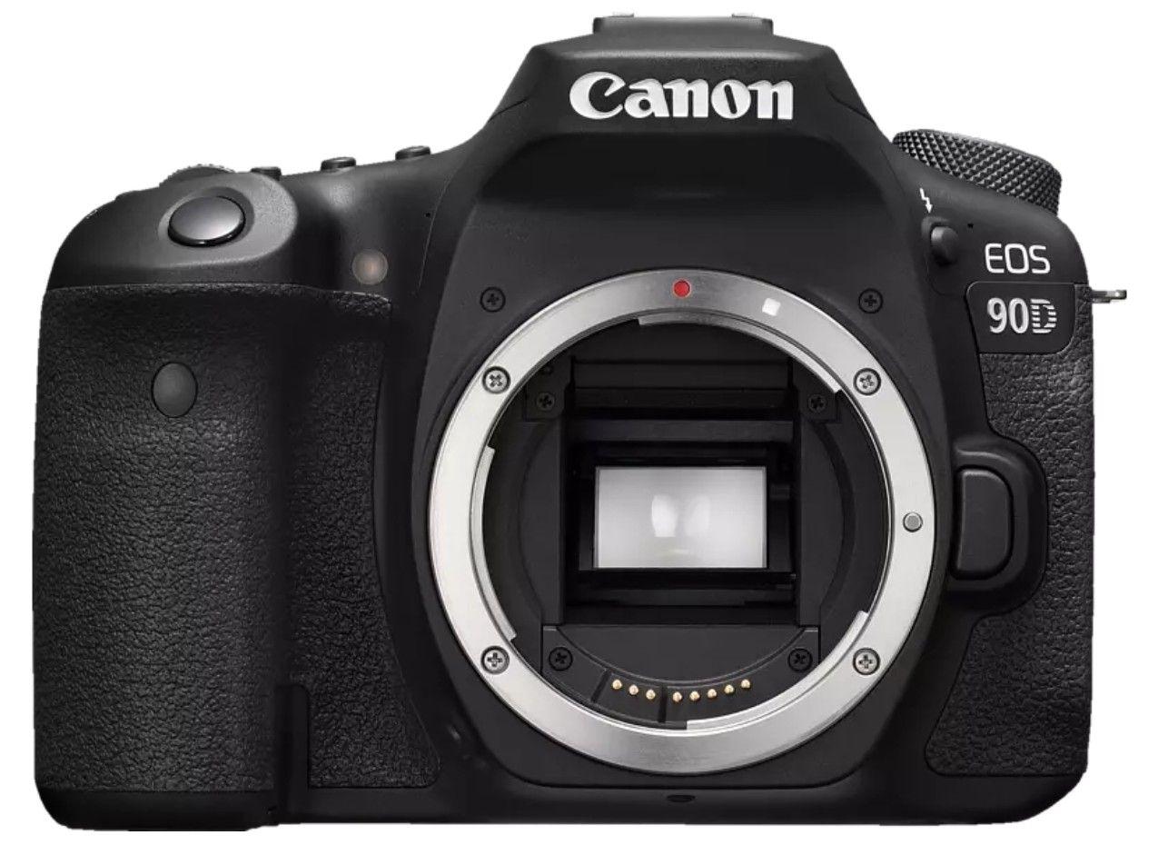 CANON EOS 90D Body Spiegelreflexkamera, 4K, Full-HD, HD, Touchscreen Display, WLAN