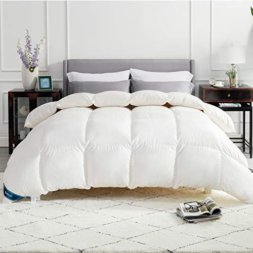 BEDSURE Daunendecke warm 135x200, allergikergeeignet, 90% Daunen und 10% Federn