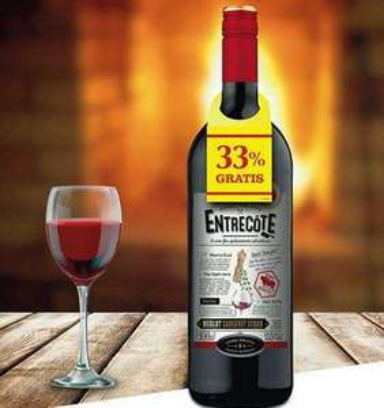 [Kaufland] Entrecôte Rotwein Merlot Cabernet Syrah 1L