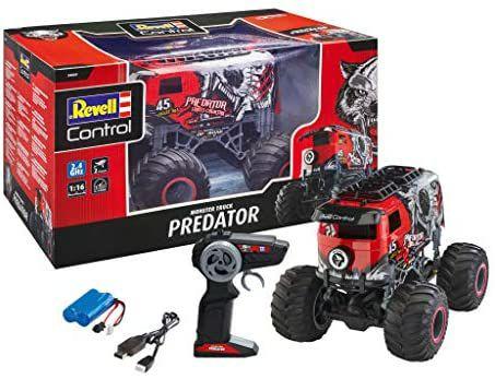 Revell Control 24559 RC Monster Truck Predator in VW Bulli-Optik, 2.4 GHz, Li-Ion-Akku, 29 cm [Amazon Prime]