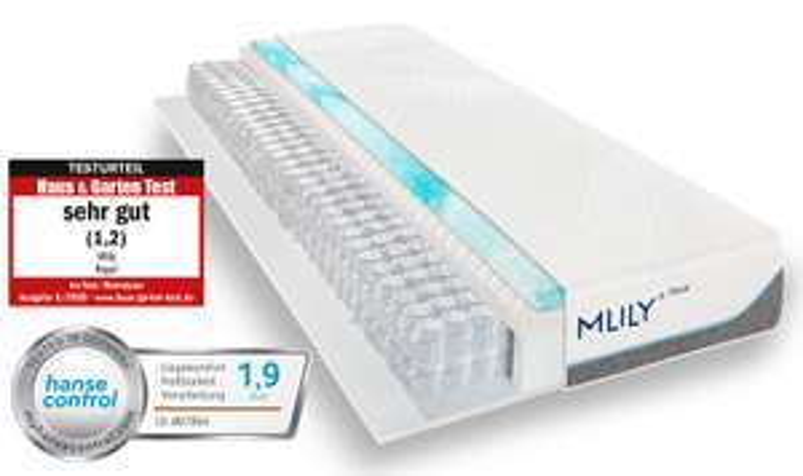 Mlily Taschenfederkern Matratze 90x200 zum Bestpreis