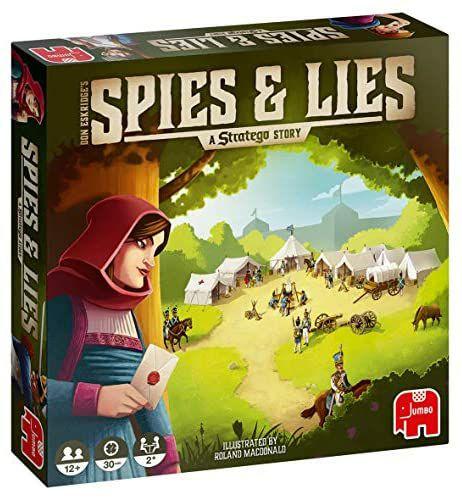 Jumbo Spiele Brettspiel - Spies & Lies - A Stratego Story, Strategiespiel - Ab 12 Jahren, für zwei Spieler [Amazon Prime]