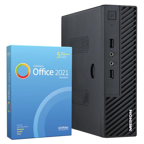 MEDION AKOYA S23002 günstiger Rechner fürs Home - Office (8 GB DDR4, 512 GB SSD)