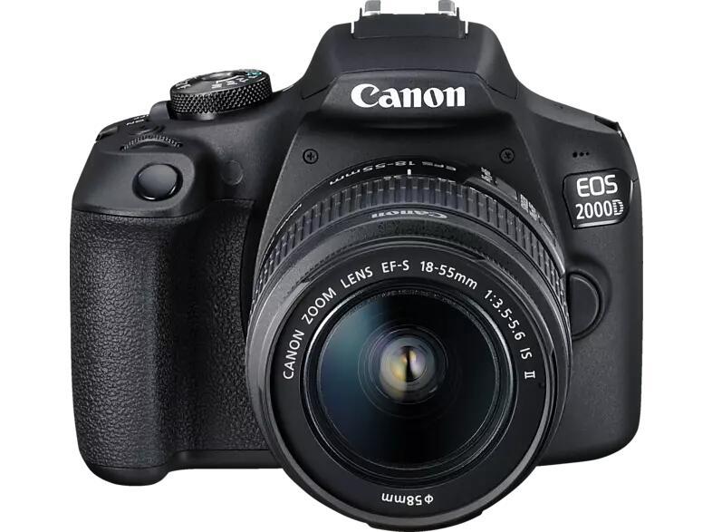 Canon EOS 2000D Kit, Spiegelreflexkamera + 18-55 mm Objektiv