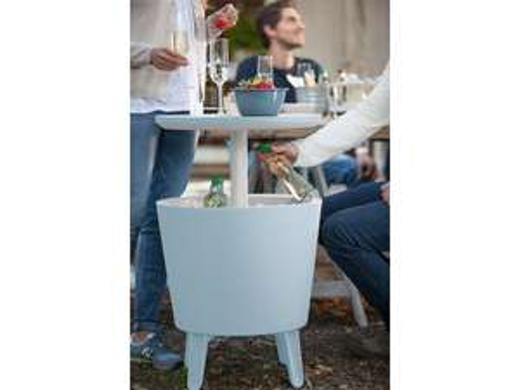 [iBOOD Tagesdeal] Keter Cool Bar Stehtisch mit Kühlbox   30 l (25 Flaschen oder 42 Dosen) Maße (DxH): ca. 49,5 x 57 - 84cm
