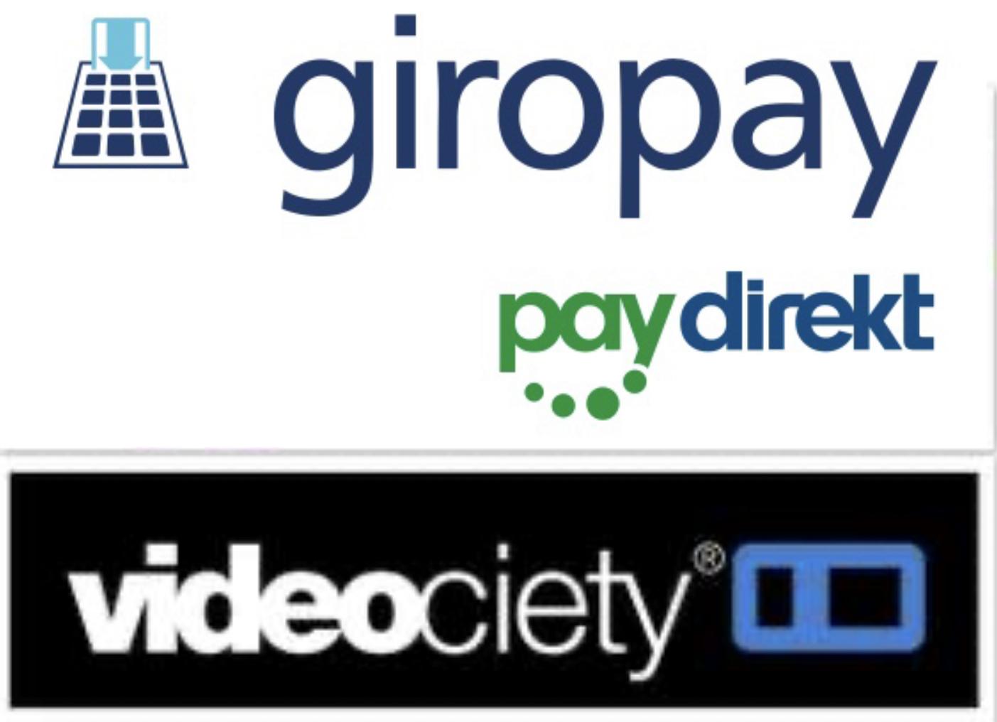 Online-Videothek videociety: 10€ aufladen + 10€ geschenkt mit Paydirekt / giropay