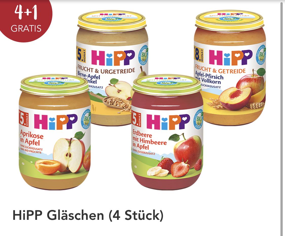 (Rossmann) 20% auf Hipp Gläser / 4 + 1 Fruchtgläschen und zusätzlich 10% on top (Preis je nach Sorte)