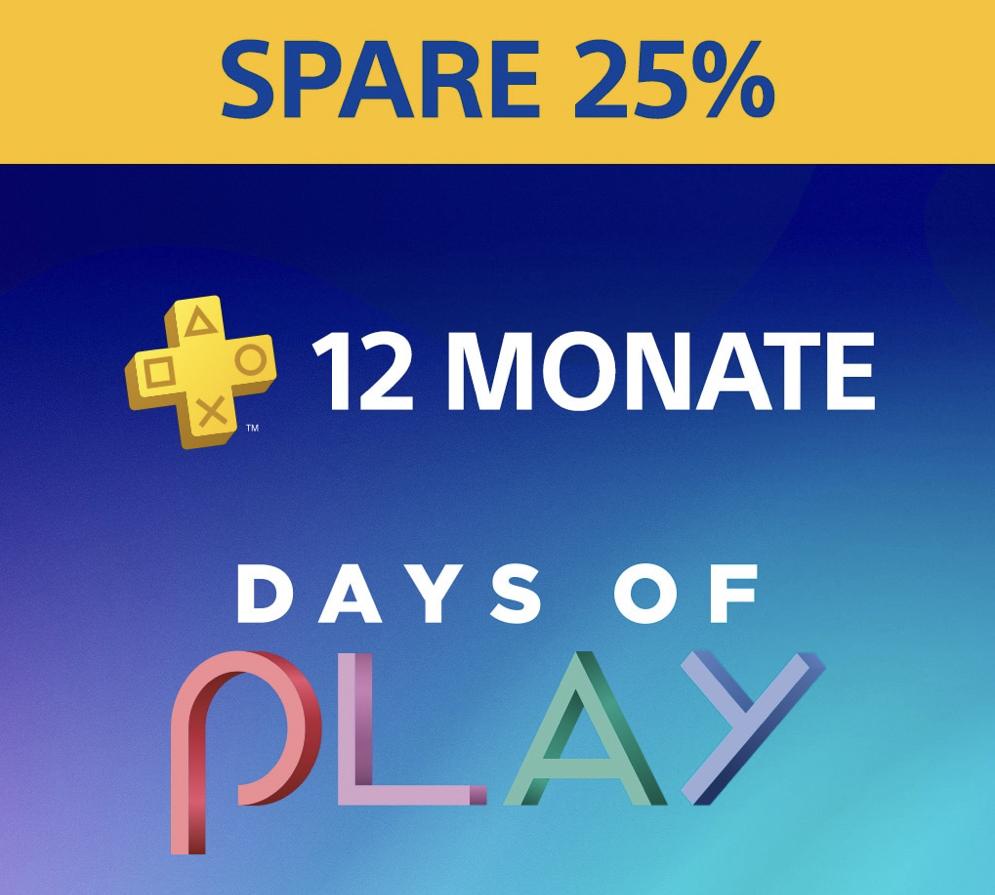 12 Monate Sony PlayStation Plus Mitgliedschaft für 42,74€ bzw. 41,99€ - vom 01.06. bis 09.06.