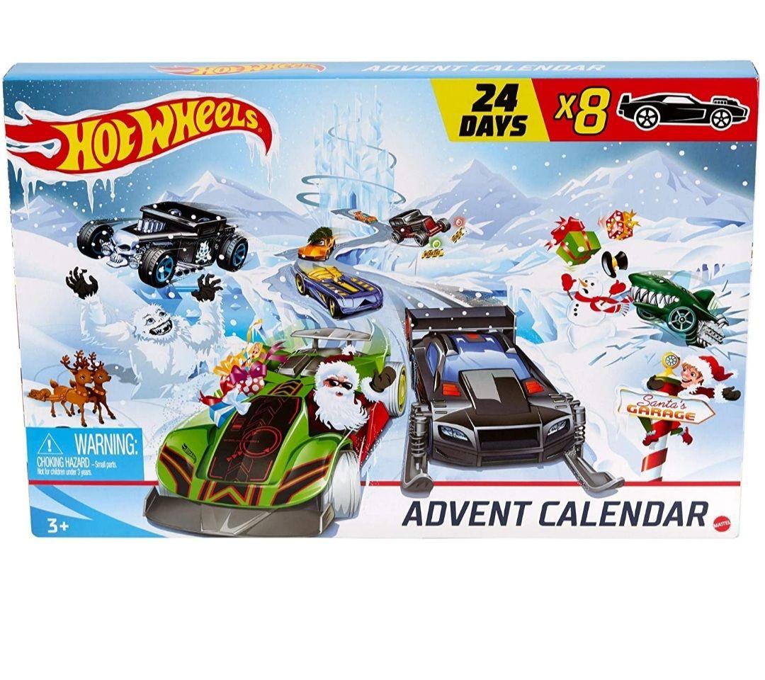 Hot-Wheels - Adventskalender 2020 mit Spielzeug für 24 Tage, ab 3 Jahren [Amazon Prime]