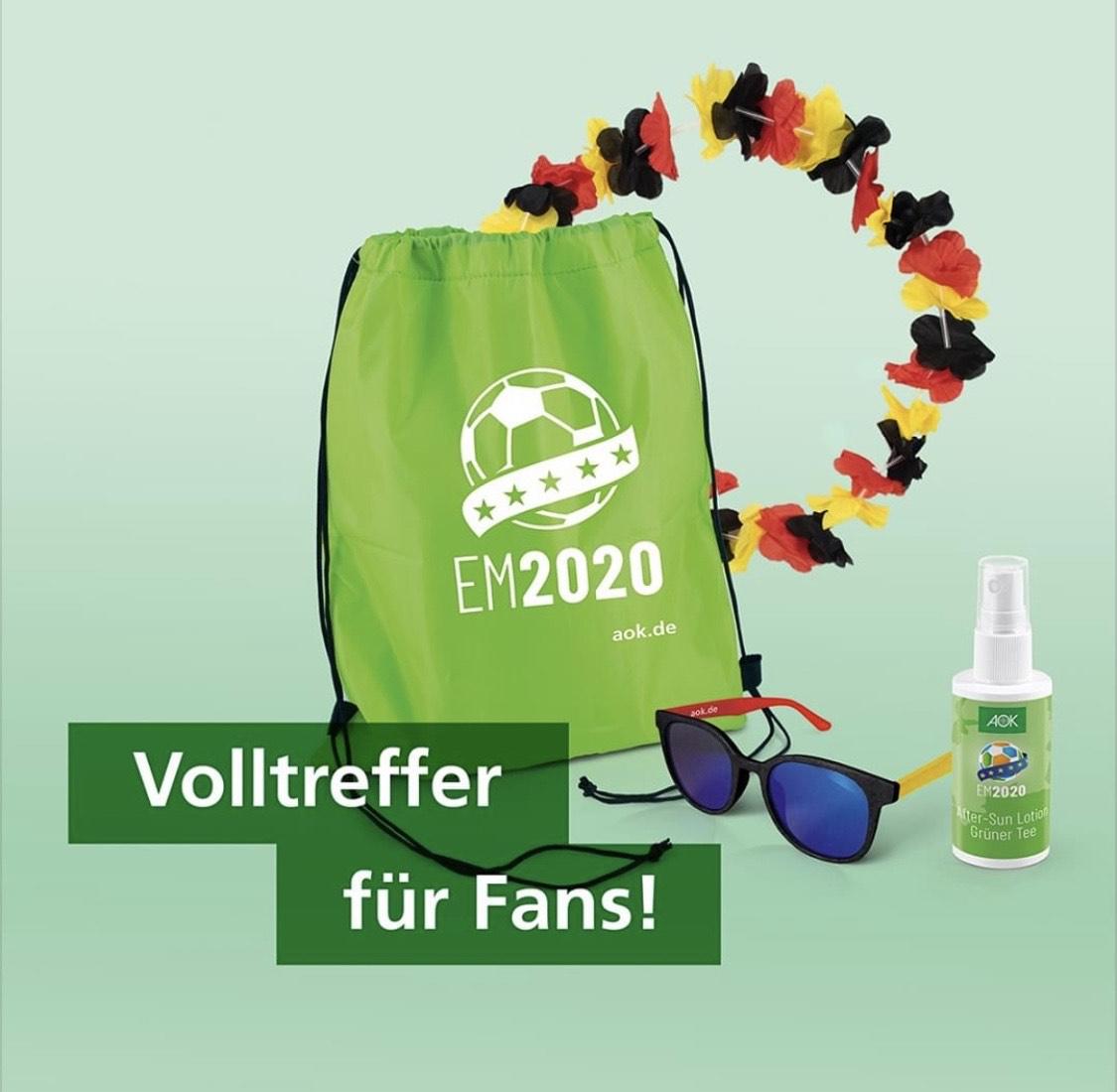 [AOK Bayern] [Freebie] [Lokal Bayern] EM-Fan-Paket gegen Daten