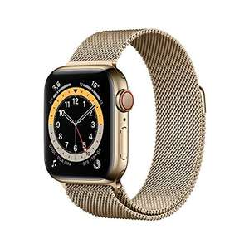 Apple Watch Series 6 (GPS + Cellular, 40 mm) Edelstahlgehäuse in Gold - Milanese (Amazon.es)