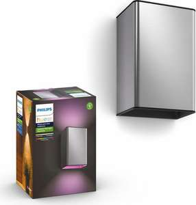 Philips Hue White and Color Ambiance Resonate Outdoor Wall Light LED Edelstahl (RGBW, 8W, 1200lm, IP44)