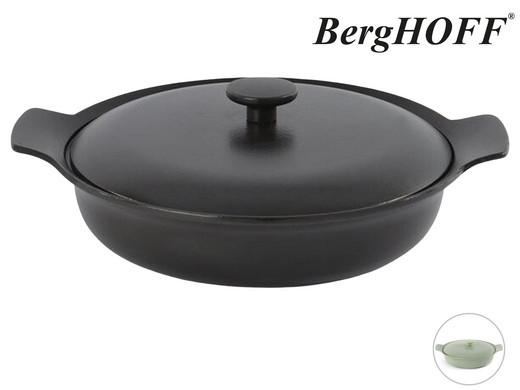 BergHOFF Gusseisen-Schmorbratpfanne mit Deckel Ron Sauteuse (28 cm, 3.3 Liter, Für alle Herdarten inkl. Induktion) [iBOOD]