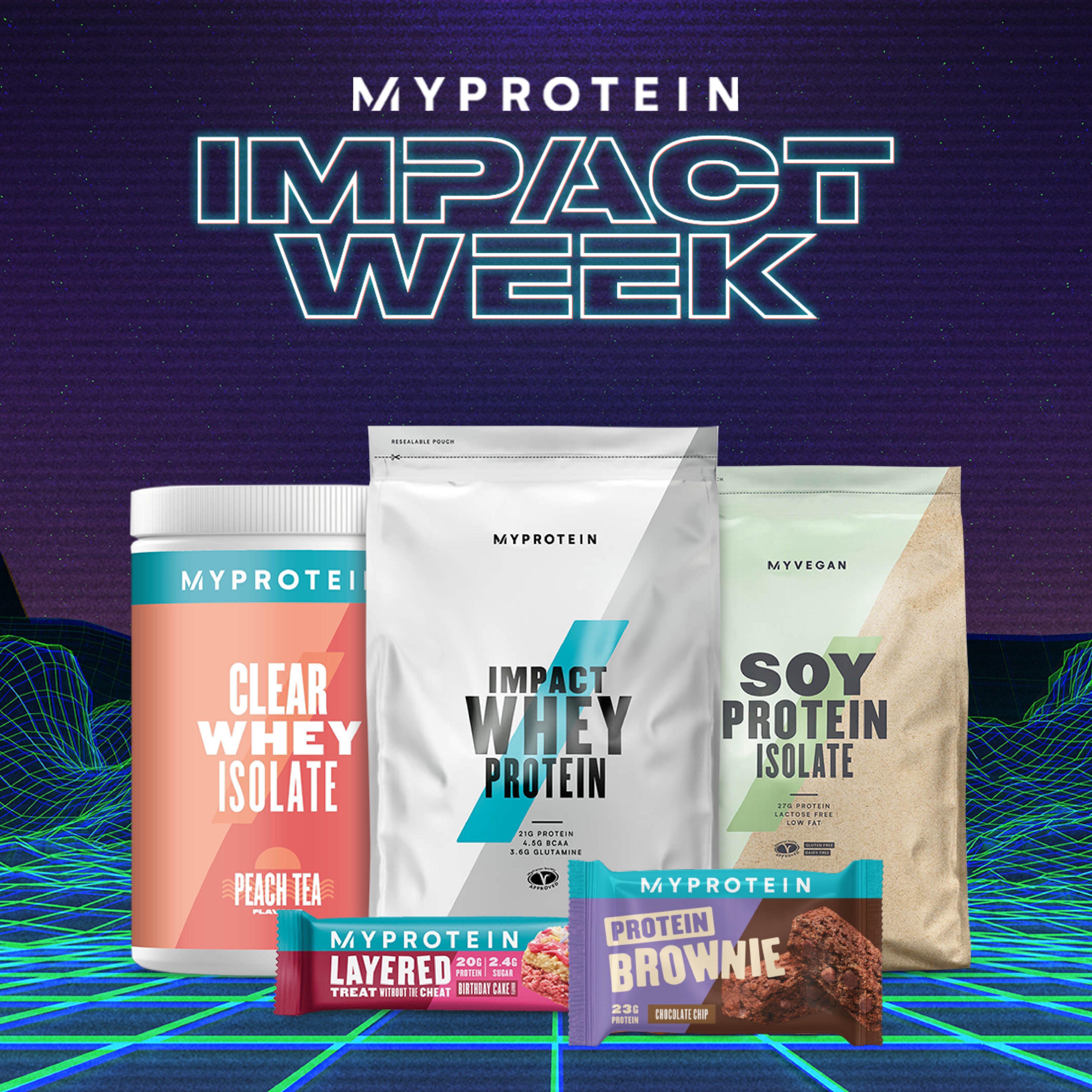 Myprotein Impact Week: wechselnde Tagesangebote, z.B. 47% auf alles + Gratisversand ab 20€ (Montag)
