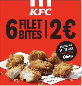 KFC | 6 Filet Bites für 2€ | nur Drive-in von 14-17 Uhr