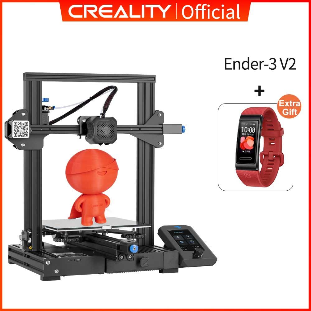 Creality Ender 3 V2 3D-Drucker (22x22x25cm, jetzt mit silent-Board, Versand aus EU)