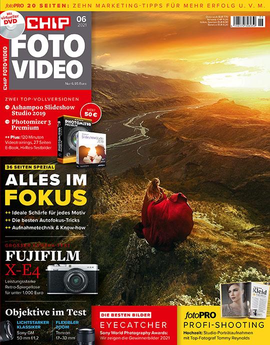 Jahresabo (12 Ausgaben) CHIP Foto-Video mit DVD