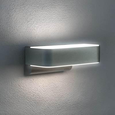 Steinel Wandleuchte L810 Up-/ Downlight mit integriertem Bewegungsmelder, silber, 12,5W Lichtleistung, 160° Erfassungswinkel, Z-Wave Funk