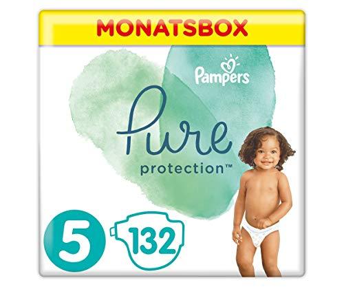 Amazon Prime Family: Nischendeal Pampers pure Protection Monatsbox mit 132 Stück Windeln in Größe 5 , Stück = 23 Cent gerundet