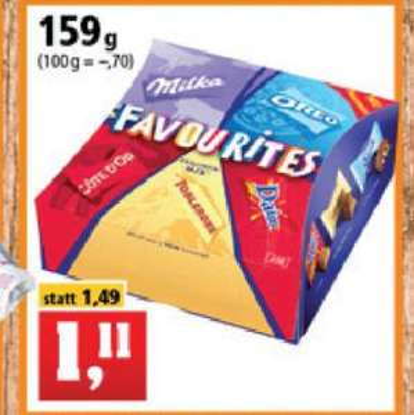 Milka Zarte Momente Favourites 159g Pralinen Mix (6,98€/kg)