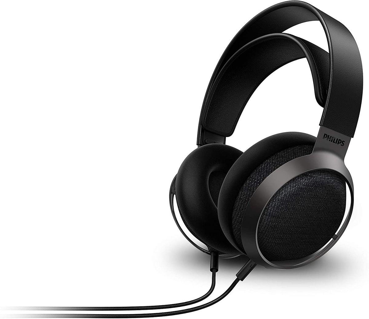 Philips Fidelio X3/00 Over Ear Kopfhörer Offen mit Kabel 3-m abnehmbar Offenes Design, 50-mm-Akustik-Treiber