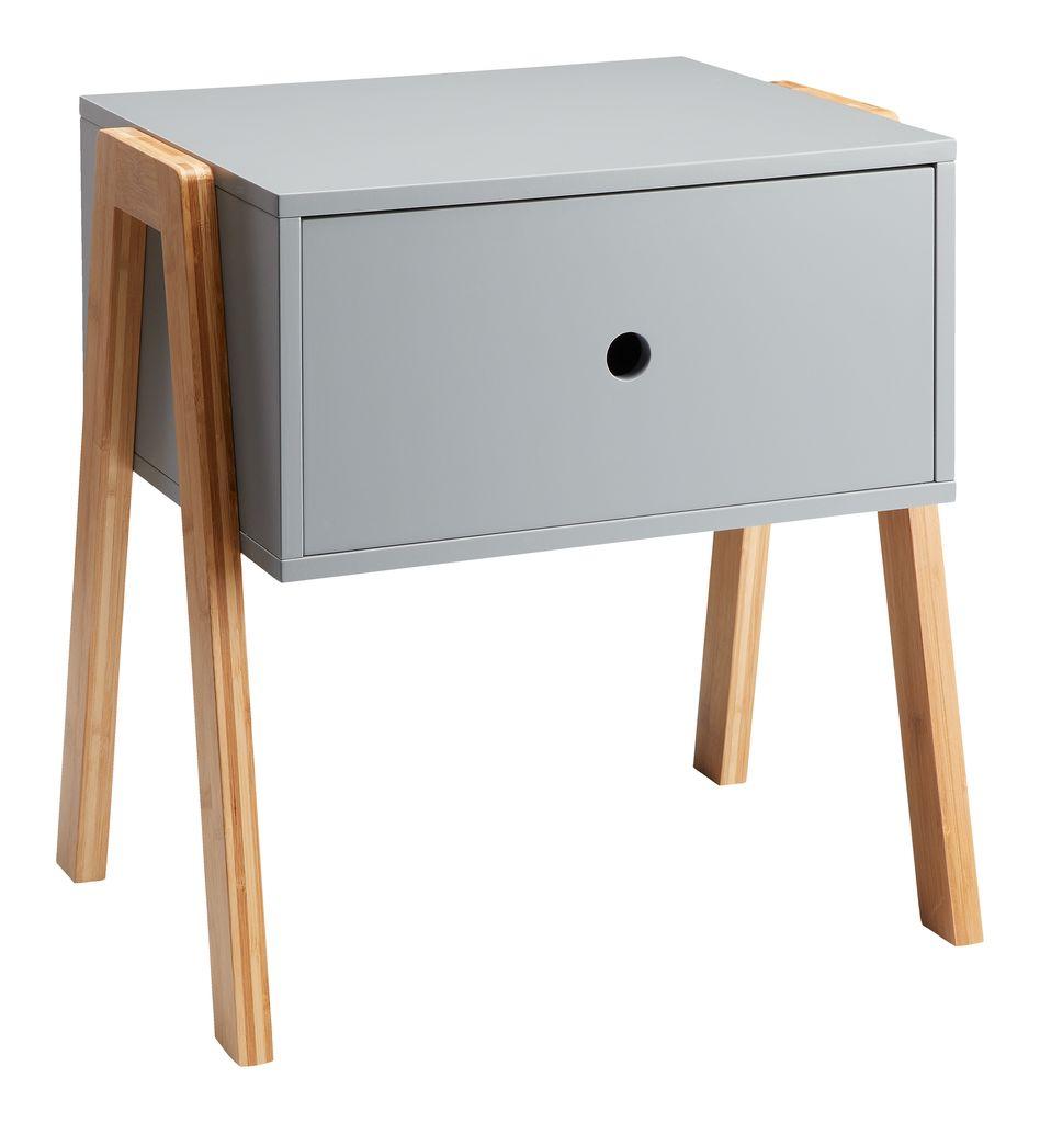 Nachttisch Kettinge 1 mit Schublade (Bambus & MDF, 44x46x35cm)