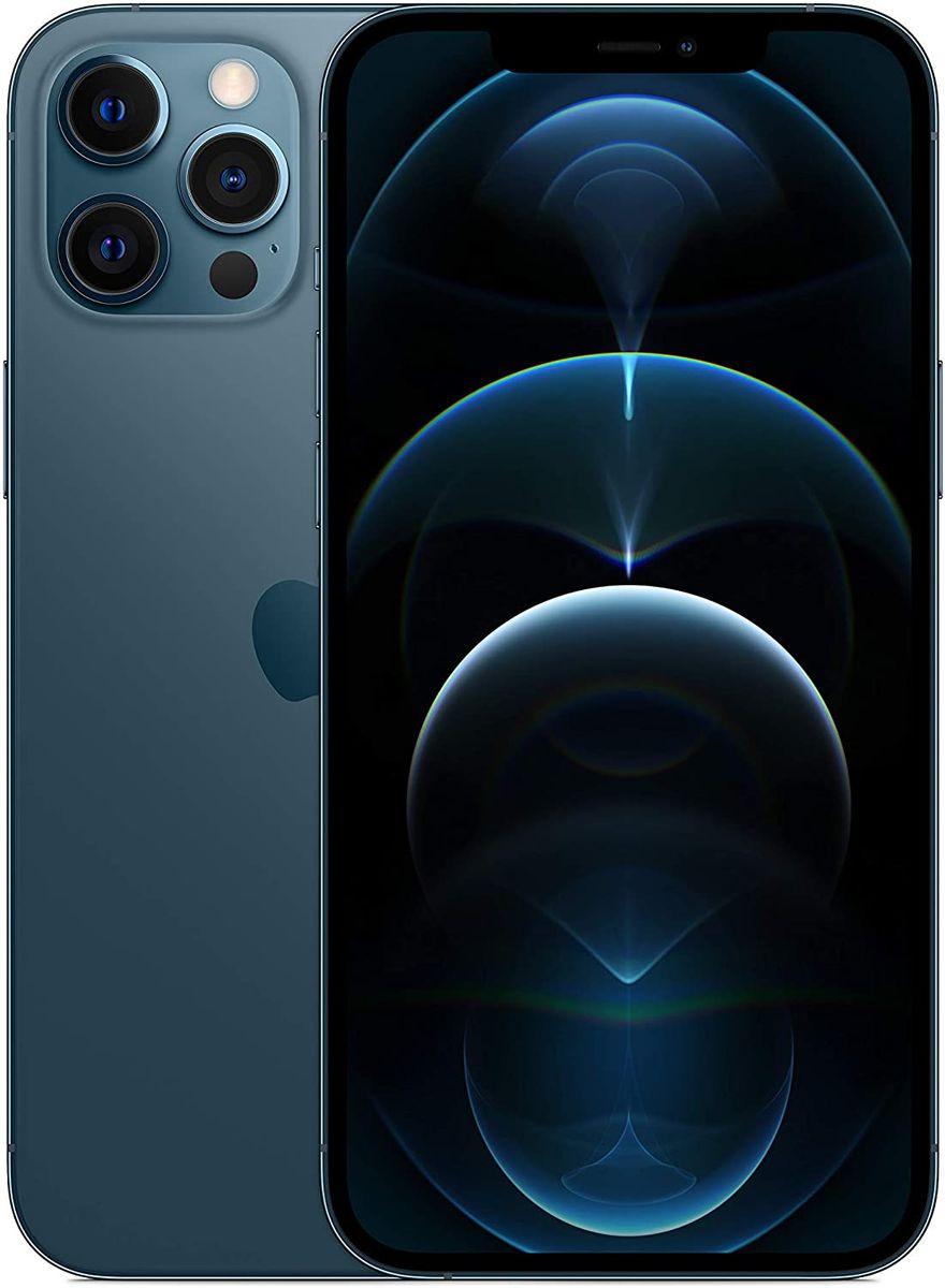 Apple iPhone 12 Pro Max 5G Smartphone 17,02cm (6,7 Zoll) OLED-Display, 256GB interner Speicher, Dual-SIM in blau und silber