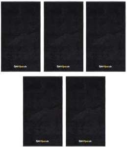 5x Handtuch Sporty (90 x 50 cm, 100% Baumwolle) [SportSpar]