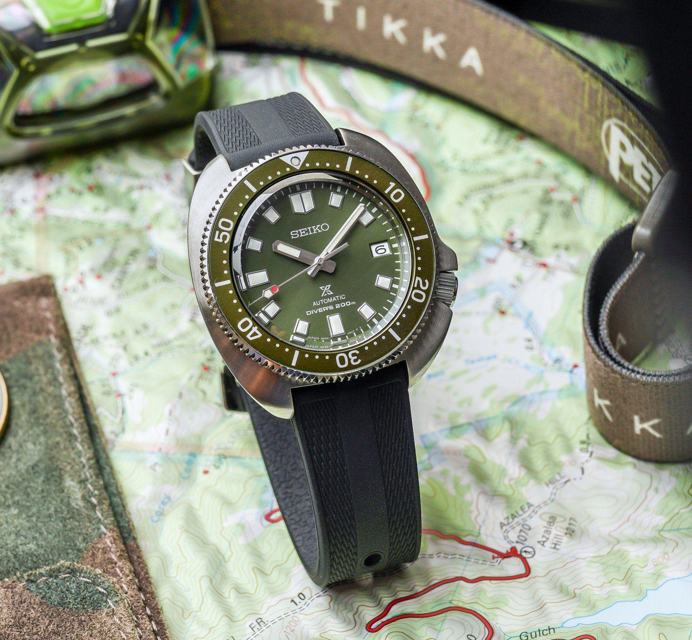 "Seiko Prospex ""Captain Willard"" (Apocalypse Now) Turtle Diver Automatikuhr - 42,7mm - 6R35 - Sonnenschliff - bombiertes AR-Saphirglas"