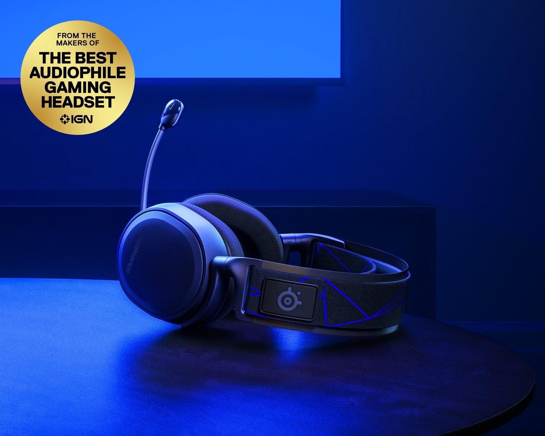 Steelseries ARCTIS 7P (oder 7X für Xbox) Wireless Gaming-Headset für PlayStation in Schwarz / Blau