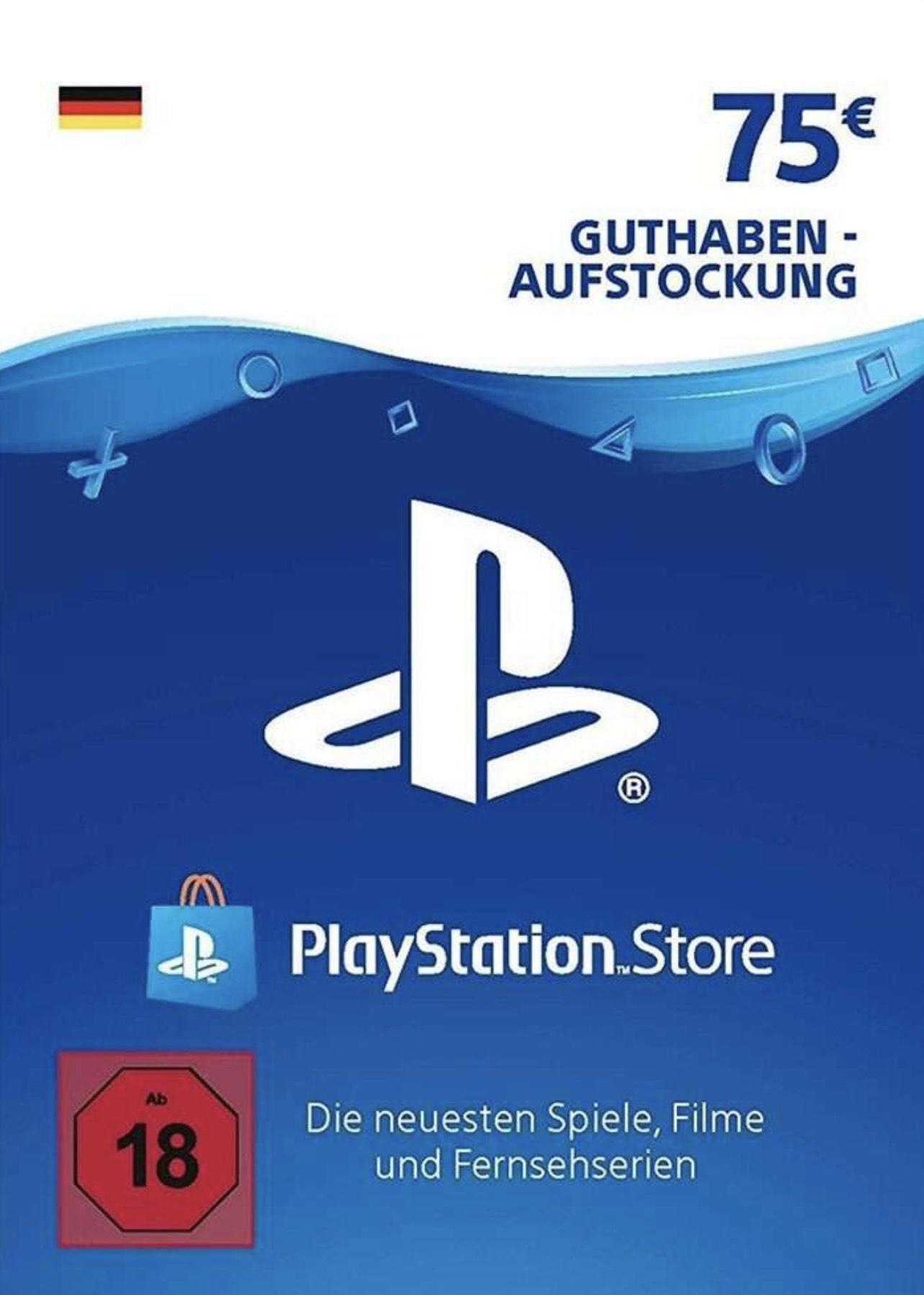 75€ PlayStation Store Guthaben für 57,69 (Psn Deutschland)