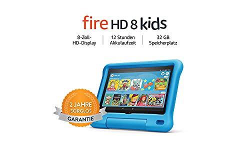"Amazon Fire HD 8 Kids Edition - 8"" Tablet (2GB/32GB, USB-C, Fire OS) 2 Jahre Sorglos-Garantie"
