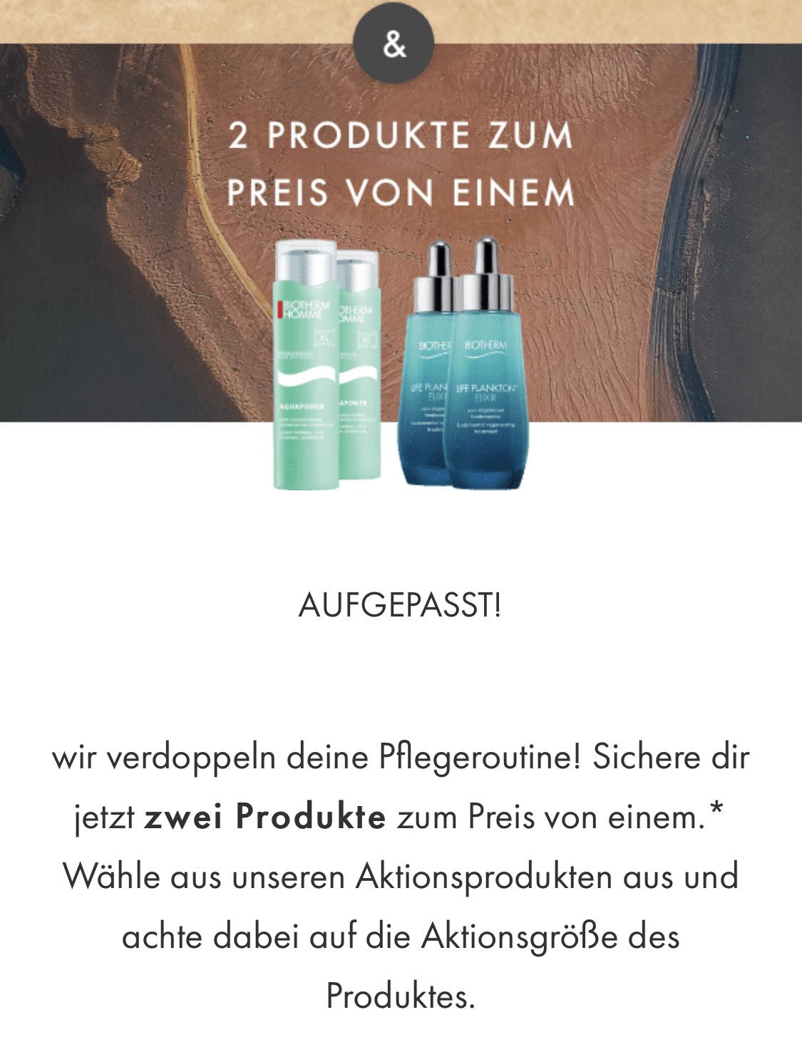 """Biotherm Homme Aquapower Gel 50ml """"2 für 1-Aktion"""" u. ausgewählte weitere Produkte"""