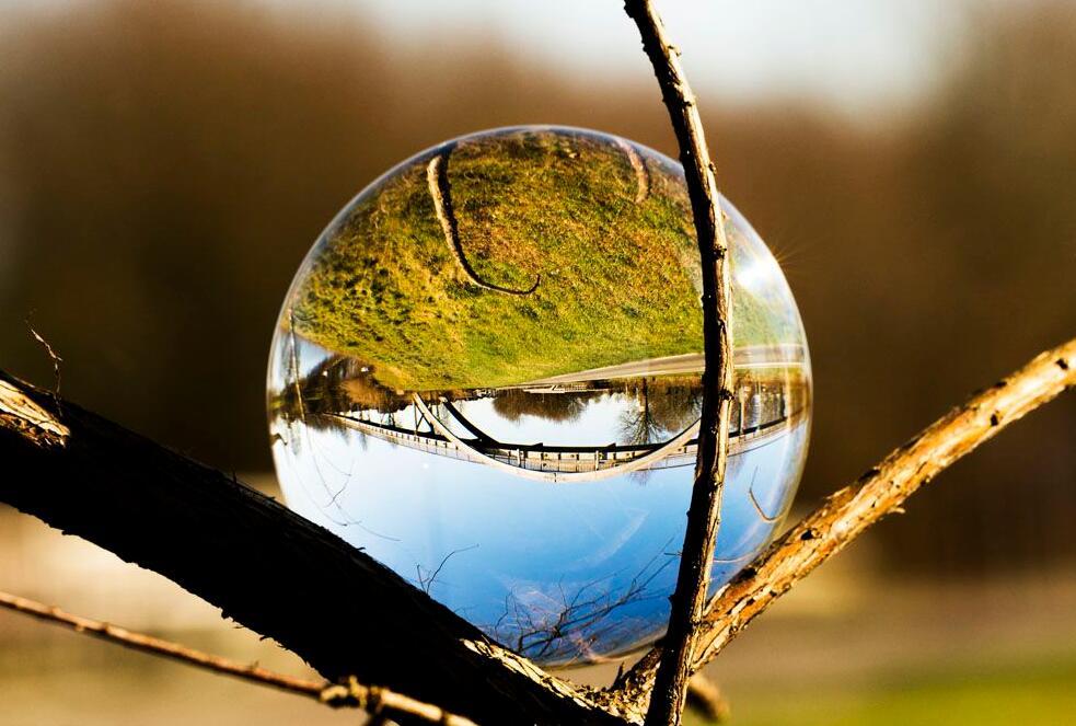[Foto Erhardt] Caruba Lensball 100mm deluxe mit Tasche und Reinigungstuch (reines Glas, Fotografie, DSLR, DSLM) [Abholung 19€]
