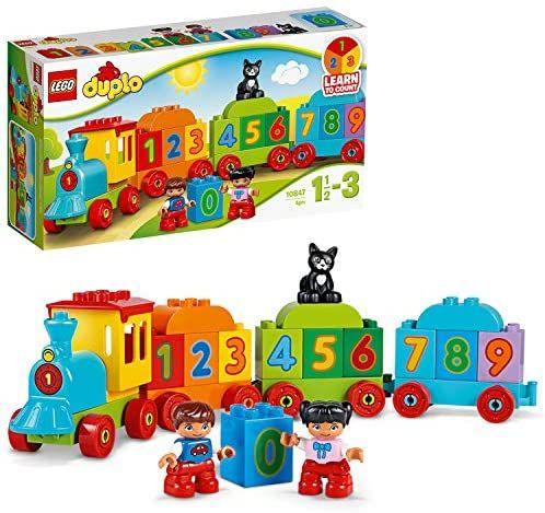 LEGO 10847 DUPLO Zahlenzug, preisgekröntes Bauset mit großen Zahlensteinen, Vorschulspielzeug