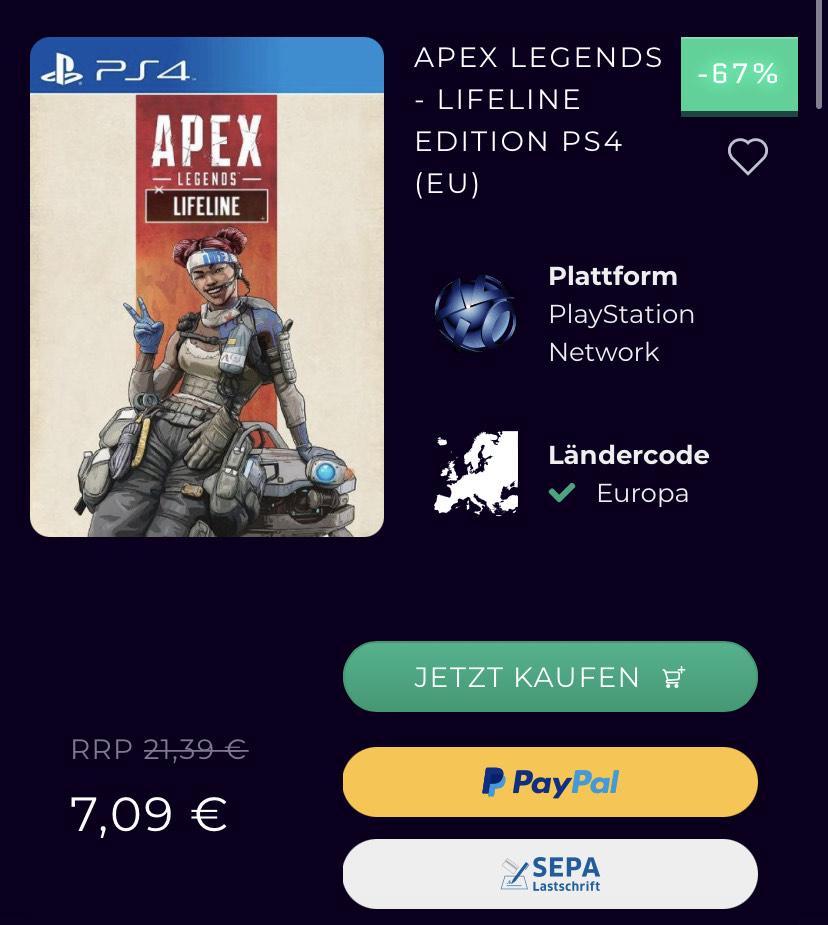 Apex Legends Lifeline Edition PS4