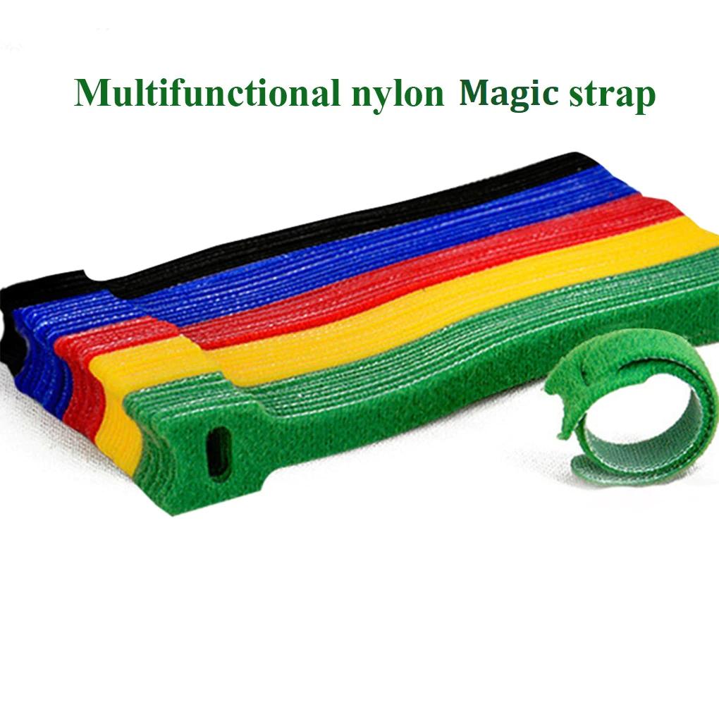 50x Kabel Klettband Kabelklett Kabelbinder 15x1,2 cm - Multicolor