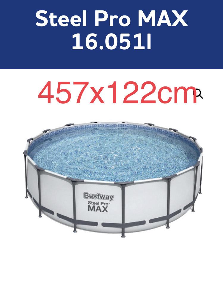 Bestway Steel Pro MAX Frame Pool, 457 x 122 cm mit Filterpumpe [centershop] ab 25.5
