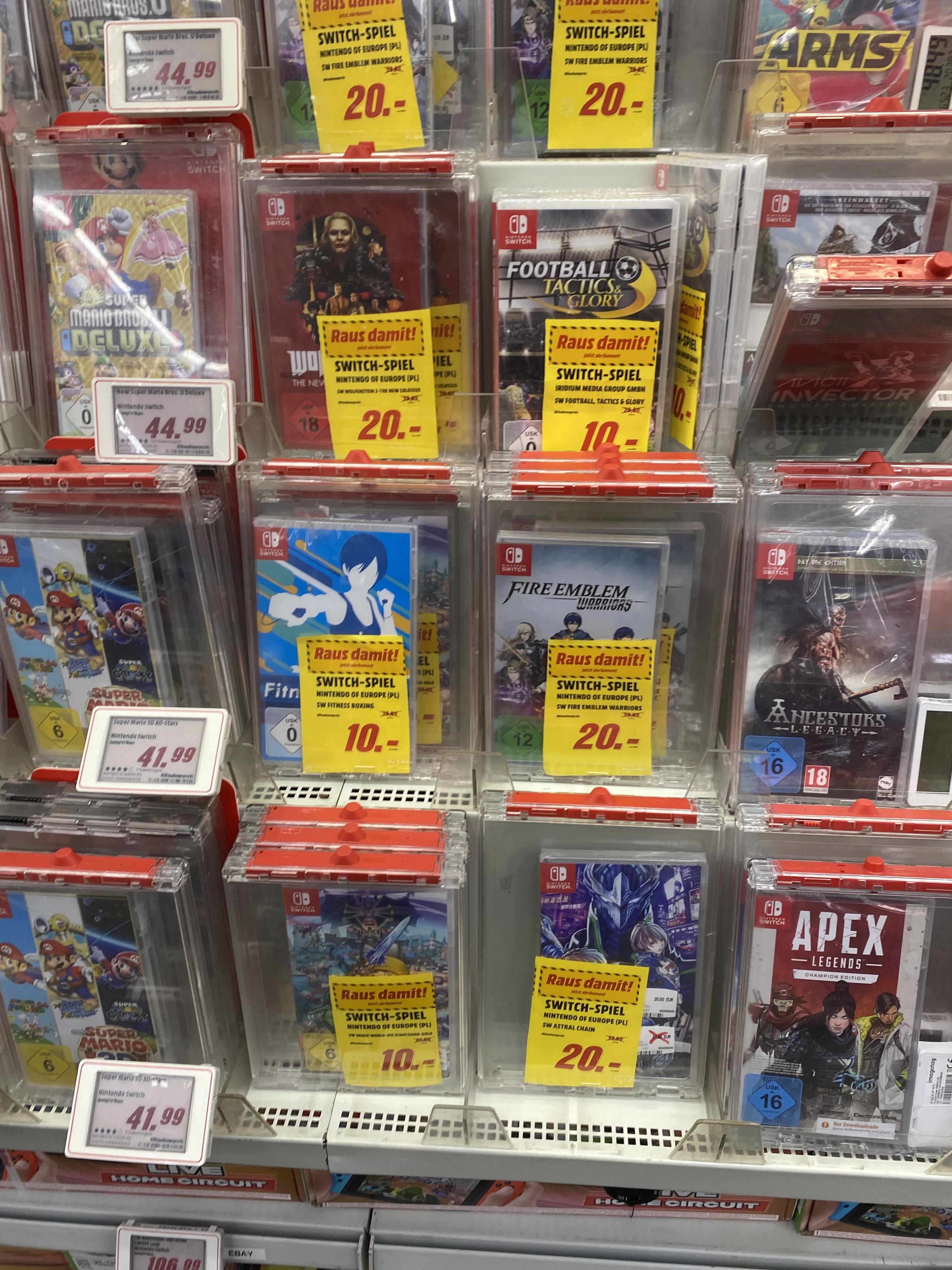 [Lokaler Deal: Hamburg] Media Markt Hamburg Nintendo Switch, z.B. Fitness Boxing, Snack World für je 10€