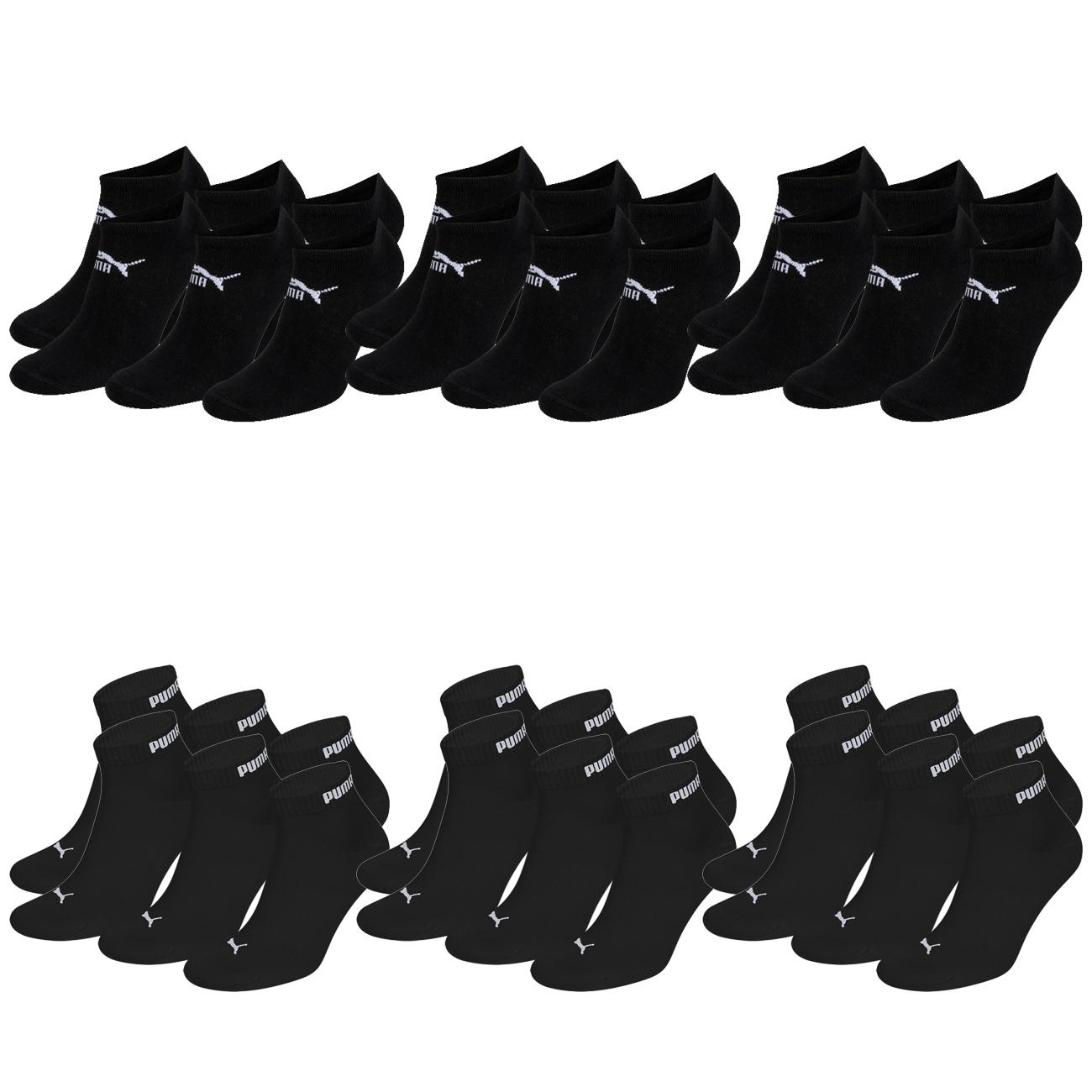 18 Paar Socken: 9 Paar Puma Quarter Clyde Sport + 9 Paar Puma Sneaker Clyde Socken (1,67€ pro Paar)