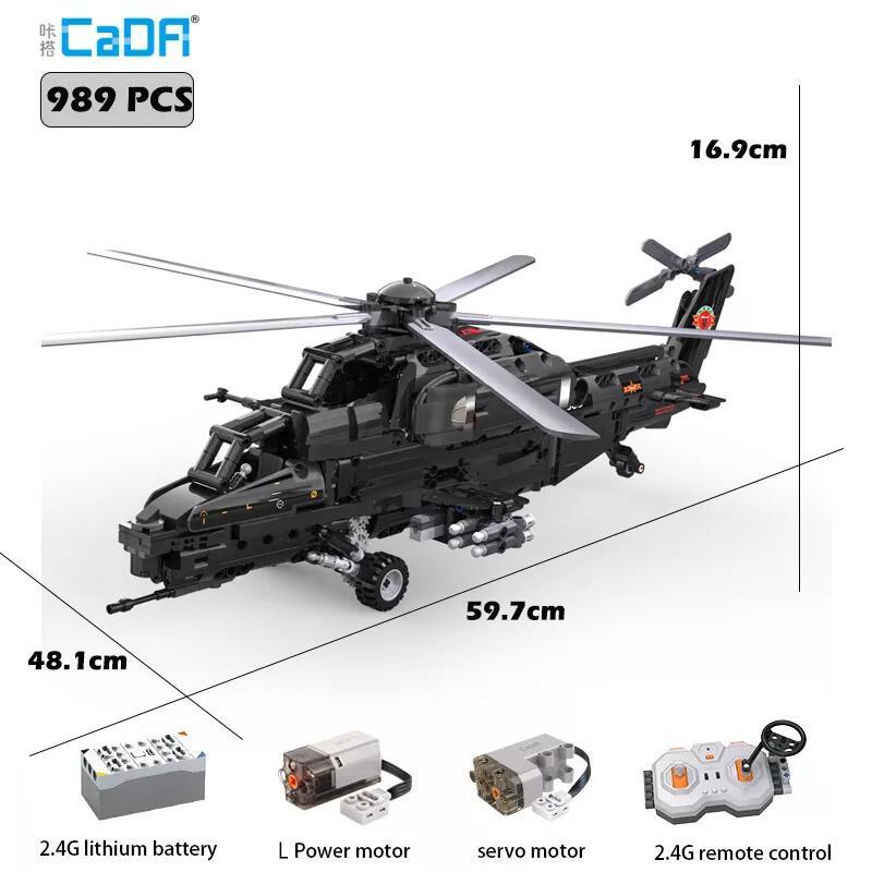 CaDA C61005W Kampfhubschrauber - 989 Teile Klemmbausteine / motorisiert für 54,54€