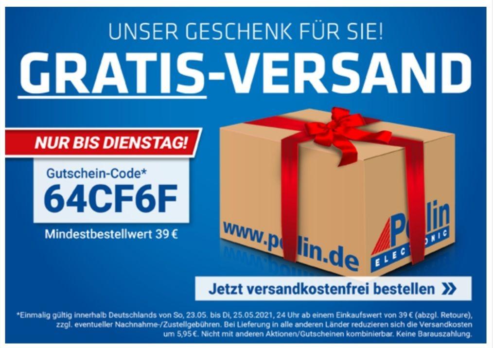 Pollin Versandkostenfrei ab 39 Euro mit Code: 64CF6F bis 25.05 um 24 Uhr
