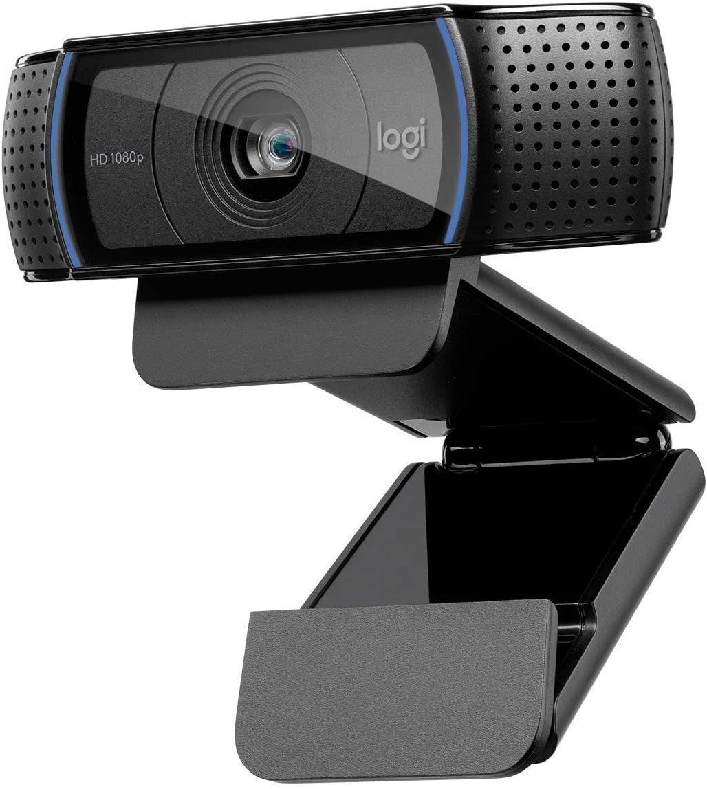Logitech C920 HD PRO Webcam (Full-HD 1080p, 30 FPS, 78° Sichtfeld, Autofokus, Stereo-Sound, Belichtungskorrektur, USB)